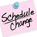 Class Schedule Changes
