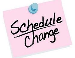 Class Schedule Changes